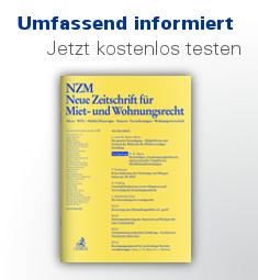 NZM Neue Zeitschrift für Miet- und Wohnungsrecht