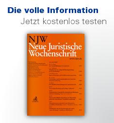NJW Neue Juristische Wochenschrift