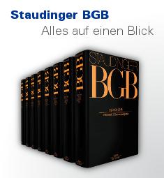 Staudinger - Der Großkommentar zum BGB